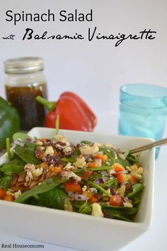 Great Balsamic Vinaigrette dressing recipe, so fast and easy to make. Great for eating clean
