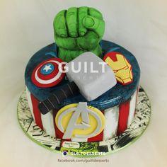 Marvel Avengers Cake - Cake by guiltdesserts