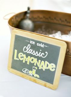 Lovely idea - going to use this at my wedding picnic with traditional lemonade and ginger beer bottles