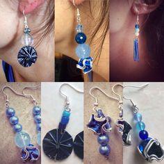#orecchini #capsule #nespresso #callme #riciclo #azzuro #blu #prezioseidee #fantasia
