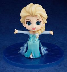 Hot Sale! Action Figure Cartoon Movie Princess Elsa Anna Rapunzel Cute Q Version Elsa PVC ACGN Toy for Kids Free shipping!