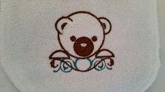 Teddy Bear Bib and Burp Cloth Set