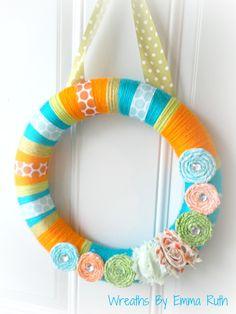 Fun Party Yarn Wreath
