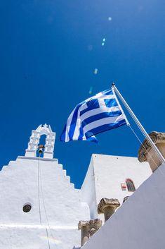 Church in Amorgos, Greece Santorini, Opera House, Past, Greece, Fair Grounds, Wanderlust, Blue And White, Explore, Building