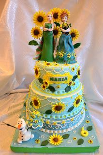 FROZEN FEVER CAKE. TORT FROZEN FEVER