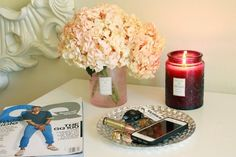 Beautiful way to reuse a Voluspa Bella Sucre candle jar.