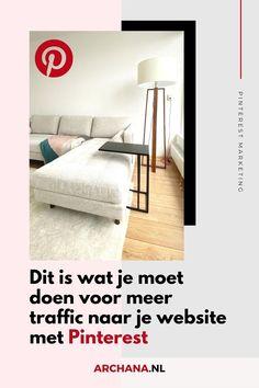 Wil je meer Pinterest traffic naar je website? Schrijf nieuwe blogberichten, voeg nieuwe pagina's en producten toe en creëer nieuwe beelden voor oude en nieuwe blogberichten. Nieuwe beelden waarmee je pinners inspireert en aanzet tot interactie zodat zij jouw pins bewaren. - pinterest tips voor bloggers | pinterest marketing voor bedrijven | pinterest nederlandstalig | pinterest in nederlandse taal | pinterest strategie - ARCHANA.NL - Archana Haarnack Instagram Blog, Pinterest For Business, Blogging For Beginners, Social Media Tips, Blog Tips, Pinterest Marketing, Ecommerce, Website, Blogging