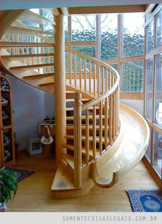 okay seriously, no one is too old for a slide .. and in your house! way cool.