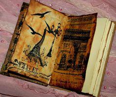 Zuzu's Petals 'n' Stuff: hand book binding: Little notebook.