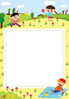 [찬진교육] 유치원 어린이집 메모지, 편지지, 안내문, 가정통신문 도안 : 네이버 블로그 Kids Background, Background Patterns, Toddler Learning Activities, Preschool Activities, Printable Border, School Border, Boarder Designs, Photo Frame Design, Powerpoint Background Design