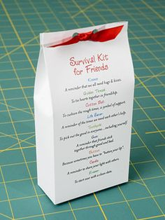 Survival Kit for Friends A fun and unique gift you can make to show your friends how much they are appreciated!