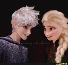 The same look Jelsa, Elsa E Jack, Jack Frost And Elsa, Frozen Love, Cute Romance, Tumblr Image, Rise Of The Guardians, Disney Frozen Elsa, Queen Elsa