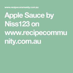 Apple Sauce by Niss123 on www.recipecommunity.com.au
