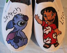 Lilo And Stitch Hand Painted Shoes by PattysGrotto on Etsy