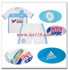 Nouveau Maillot Officiel Marseille Domicile Enfant 2016 2017 Blanc Authentic