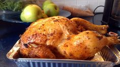 "Beer can Chicken - ""love making this chicken... reeeeeal juicy!"" @allthecooks #recipe"
