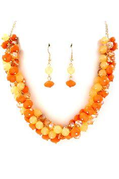 Sunrise Bea Cluster Necklace