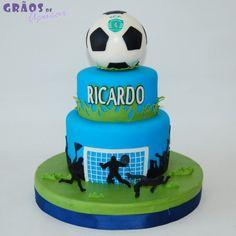 Futebol - Andares - Grãos de Açúcar - Bolos decorados - Cake Design