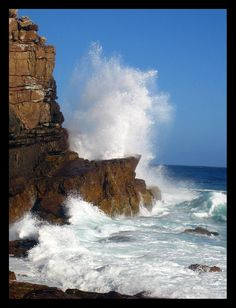 Watch the waves crushing in at #CapePoint
