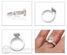 Bezel Morganite Engagement Ring Morganite Ring by RareEarth