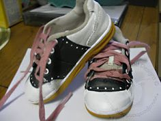 Saddle shoes in a pinch with PLAID® Paints
