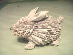Triangle Paper Origami Bunny