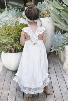 Chloe dress- Tea Princess Boho flower girl dress