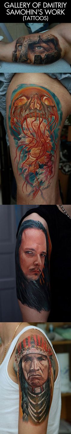 This easily the best work I have ever seen… talent.  I don't usually like tattoos of faces but these are good