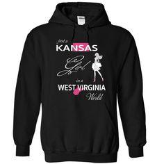 (Tshirt Popular) KANSAS GIRL IN WEST VIRGINIA WORLD [Tshirt Best Selling] Hoodies, Tee Shirts