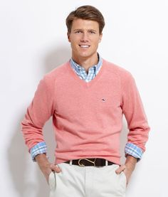 Saddle V-Neck Sweater in three summer colors