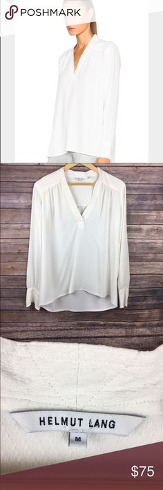 Helmut Lang Kimono Blouse Gorgeous EUC blouse with button cuffs. Super flattering neckline. So chic with skinny jeans and flats. Helmut Lang Tops Blouses