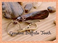 Awesome Genuine Buffalo Wire Wrap Unisex Bronze Key Ring By: Tranquilityy