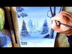 Как нарисовать зимний пейзаж гуашью поэтапно/How to Draw a Winter Scene - YouTube