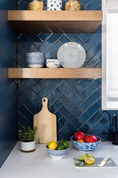 Contemporary Kitchen With Vaulted Ceilings Hgtv Faces Of Design 2018 Hgtv Ceilings Contemporary Design Faces Hgtv Kitchen Vaulted Blue Backsplash, Herringbone Backsplash, Herringbone Floors, Backsplash Ideas, Backsplash Wallpaper, Herringbone Pattern, Stone Backsplash, Beadboard Backsplash, Tile Ideas