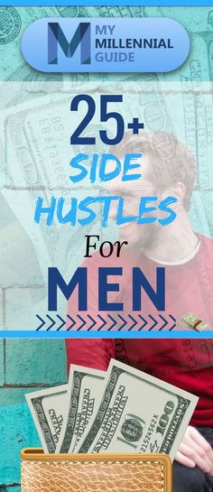 Make Money Fast: This is a male-centric list of ways to make money through side hustles. We found 27 side hustles for men that you probably haven't heard about. You'll for sure find something on this list to make earn some extra money fast. Make Side Money, Make Easy Money, Ways To Earn Money, Earn Money Online, Make Money Blogging, Make Money From Home, Quick Money, Saving Money, Making Extra Cash