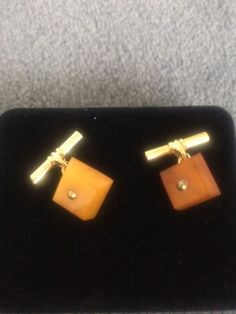 Vintage Baltic Amber chain link cuff links, ca 1960 - Catawiki