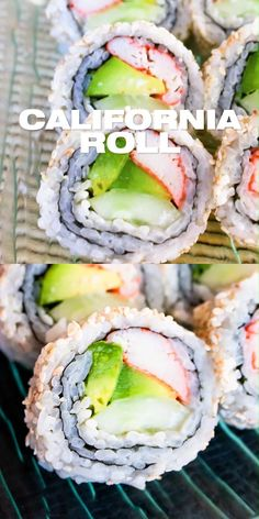 California Roll Recipes, California Roll Sushi, How To Make California Rolls, California California, Easy Healthy Recipes, Asian Recipes, Healthy Snacks, Healthy Sushi, Ethnic Recipes