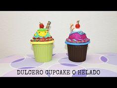 Manualidades fáciles: dulceros en forma de cupcake reciclar tarros de cristal - YouTube