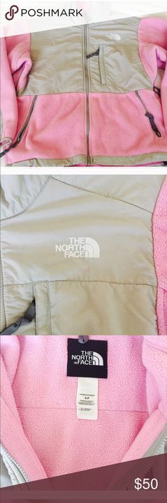 Pink North Face Jacket size small Super cute jacket by the North Face - perfect pink color, made of warm fleece and really stands out in the best possible way. So comfy just have way too many jackets! If you have any questions please let me know! The North Face Jackets & Coats