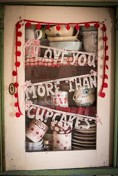 Valentines Day Cupboard Decoration