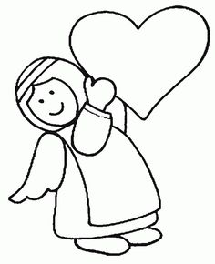 Angels Bring Love Coloring Page Angel Coloring Pages, Love Coloring Pages, Free Printable Coloring Pages, Online Coloring, Babe, Snoopy, Clip Art, Christmas Ornaments, Gallery