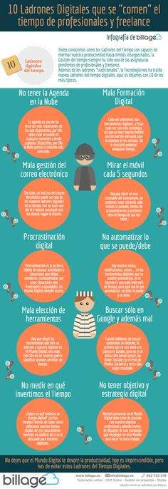 """10 Ladrones Digitales que se """"comen"""" tu tiempo"""