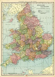 england and wales map vintage map download antique map c s hammond history