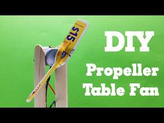 DIY - How to make a Propeller Fan using a sim card - Easy and Simple - T...