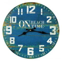 Shop online for beach and coastal clocks Australia.  On Beach Time Wall Clock
