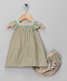 Take a look at this Emma Levine Gray Chelsea Dress & Diaper Cover - Infant by European Flair: Kids' Apparel on #zulily today!