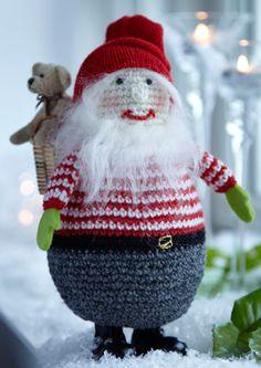 Den herlige, rundmavede julemand er ude på langfart med legetøj i rygsækken