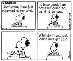 Love Snoopy the writer!