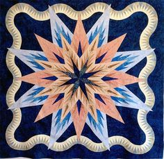 Feathered Star Queen, Quiltworx.com, Made by CI Patsy Carpenter.