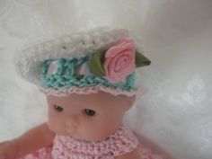 Free Itty Bitty Berenguer 5 inch Doll Crochet Hat Pattern